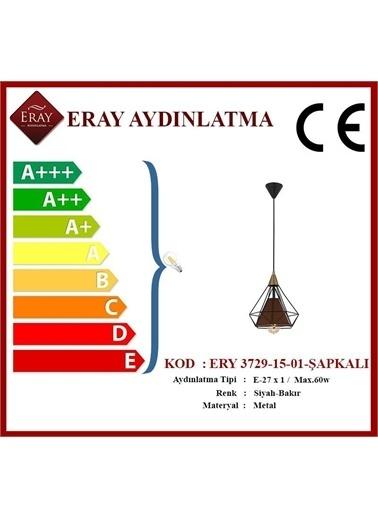 Eray Aydınlatma ERY 3729-15-01-Şapkalı Piramit Tekli Avize Renkli
